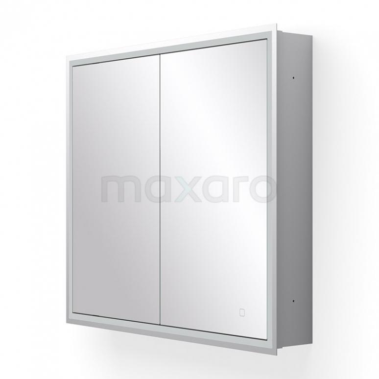 Maxaro K40 K40-0800-55504 Inbouw Spiegelkast met Verlichting 80x70cm Spiegelverwarming en Stopcontact
