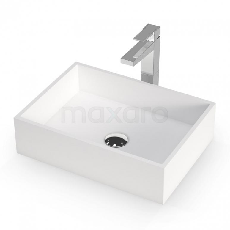 Waskom Mintra Solid Surface Mat Wit 45x32,5cm Rechthoek