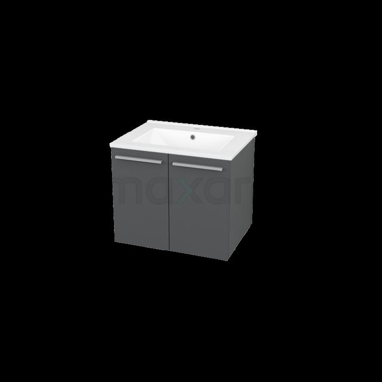 Maxaro Box BMA007226 Badkamermeubel 60cm Box Grijs 2 Deuren Vlak Keramiek