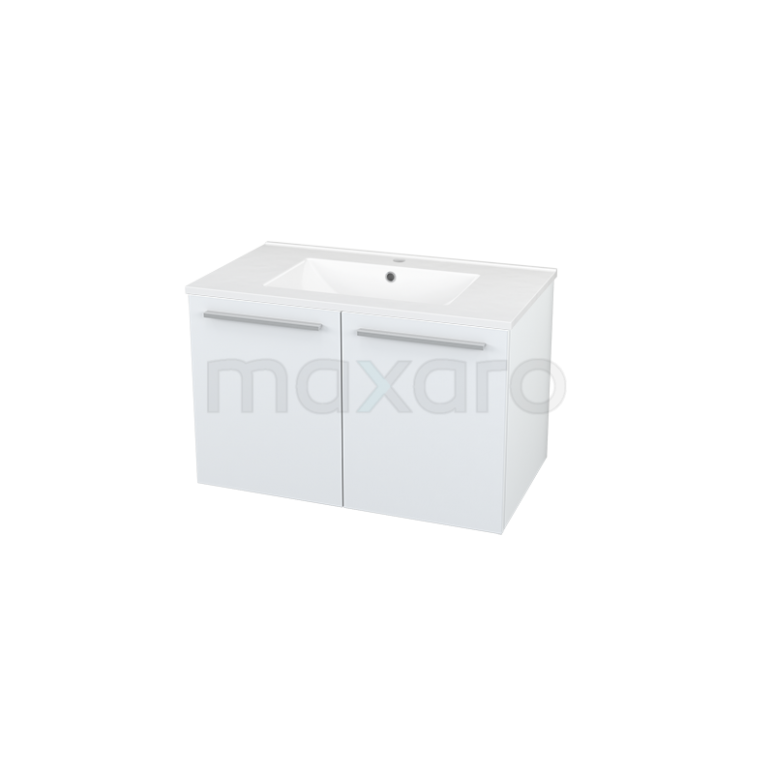 Maxaro Box BMA007227 Badkamermeubel 80cm Box Wit 2 Deuren Vlak Keramiek
