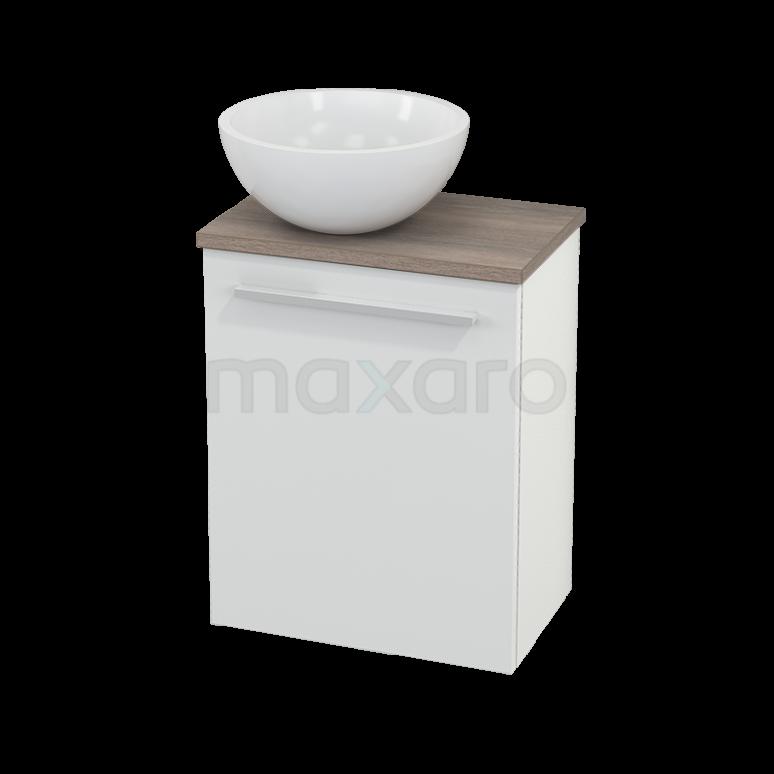 Toiletmeubel met Waskom Mineraalmarmer Glanzend Modulo+ Pico Hoogglans Wit 41cm