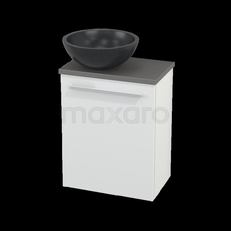 Toiletmeubel met Waskom Natuursteen Modulo+ Pico Mat Wit 41cm