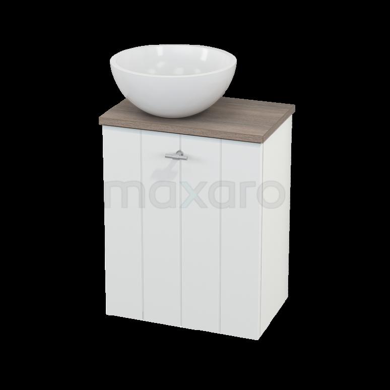 Toiletmeubel met Waskom Mineraalmarmer Glanzend Modulo+ Pico Mat Wit 41cm