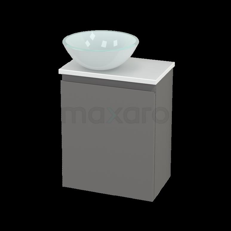 Toiletmeubel met Waskom Glas Modulo+ Pico Basalt 41cm