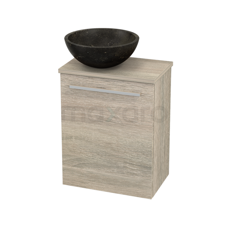Toiletmeubel met Waskom Natuursteen Modulo+ Pico Eiken 41cm