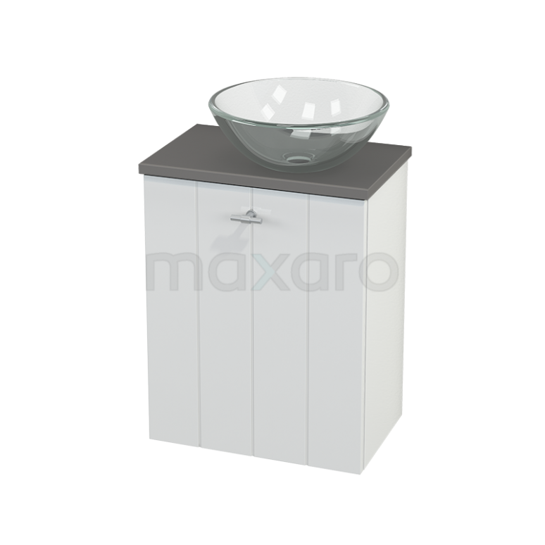 Toiletmeubel met Waskom Glas Modulo+ Pico Hoogglans Wit 41cm