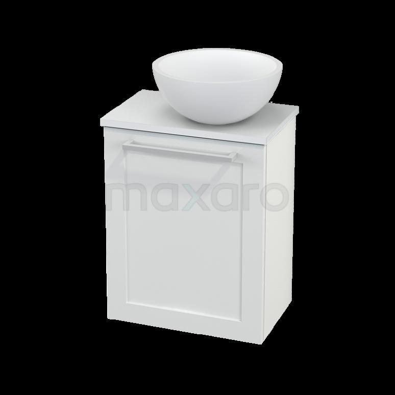 Toiletmeubel met Waskom Solid Surface Mat Modulo+ Pico Hoogglans Wit 41cm