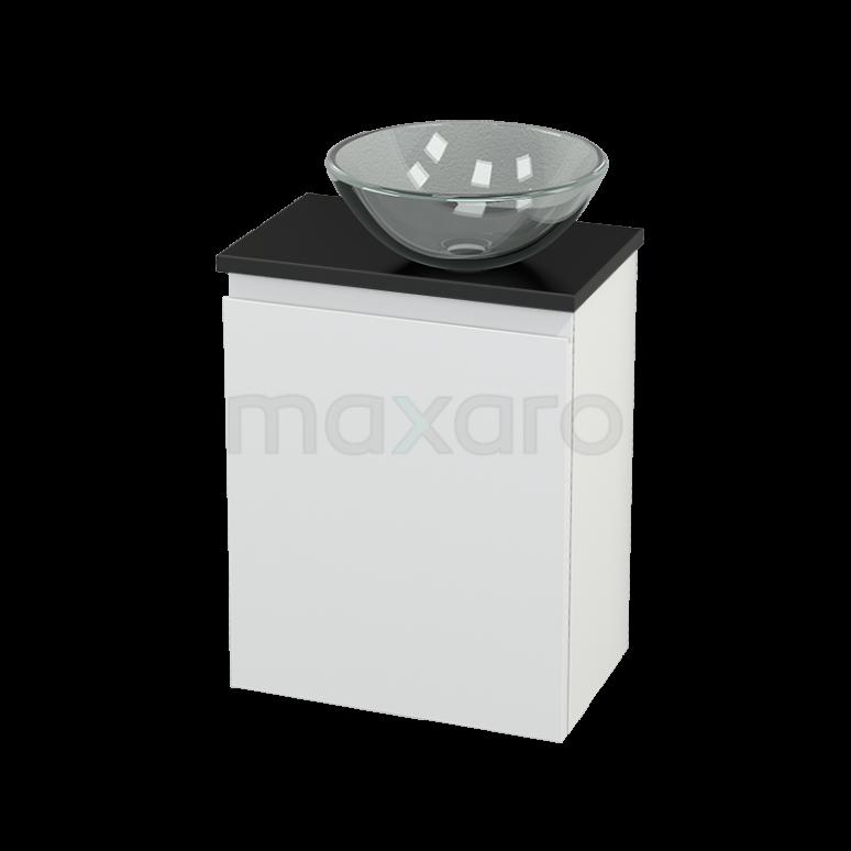 Toiletmeubel met Waskom Glas Modulo+ Pico Mat Wit 41cm