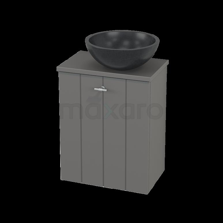 Toiletmeubel met Waskom Natuursteen Modulo+ Pico Basalt 41cm