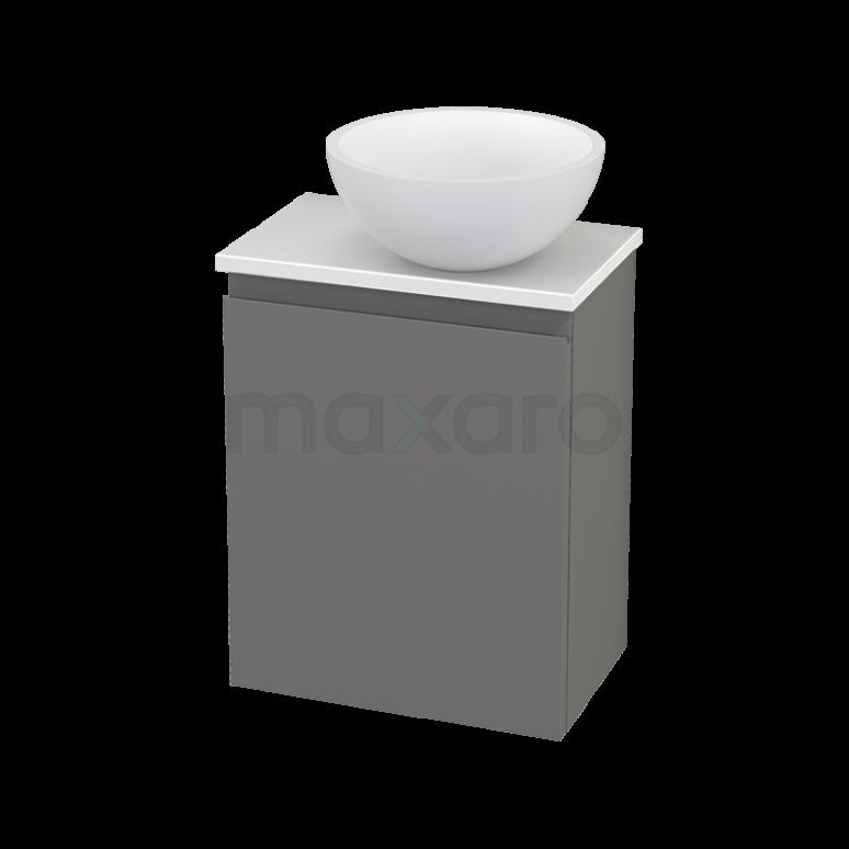 Toiletmeubel met Waskom Solid Surface Mat Modulo+ Pico Basalt 41cm