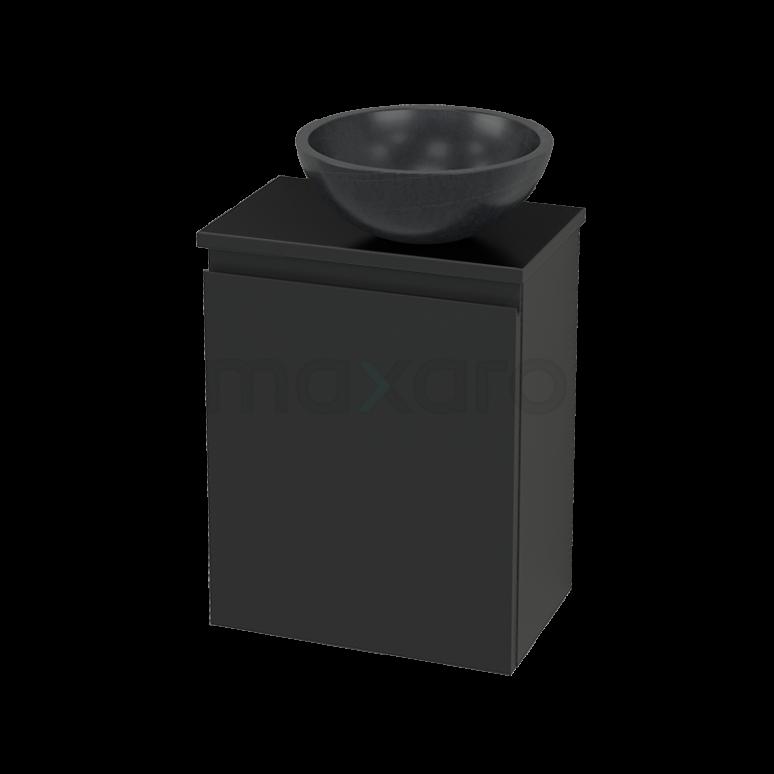 Toiletmeubel met Waskom Natuursteen Modulo+ Pico Carbon 41cm