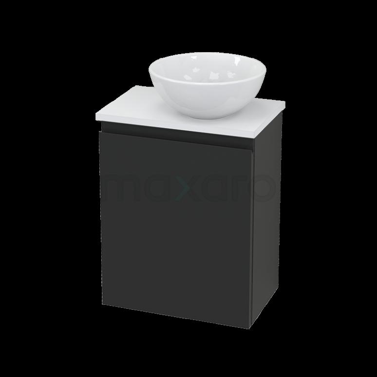Toiletmeubel met Waskom Keramiek Modulo+ Pico Carbon 41cm