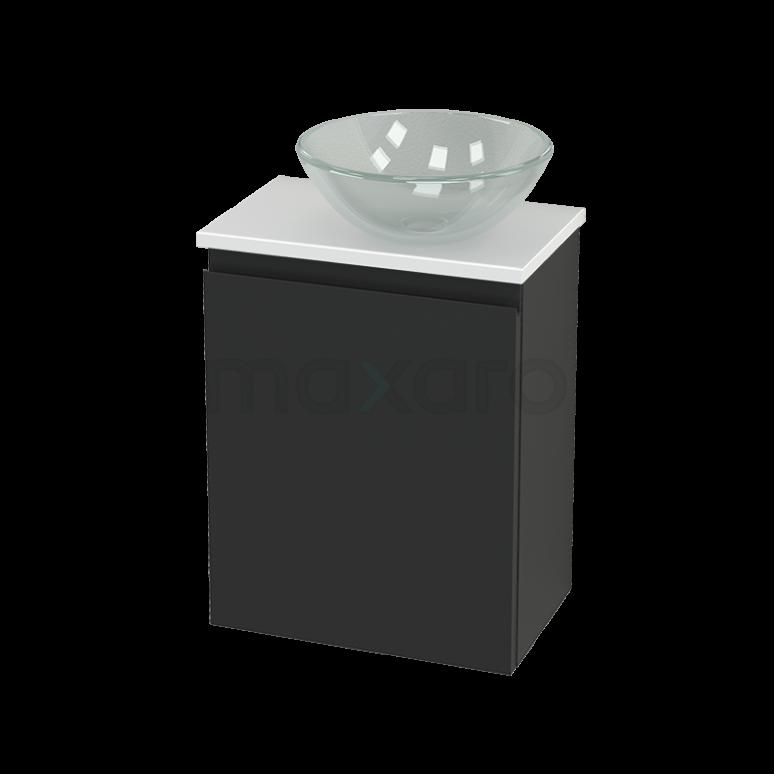 Toiletmeubel met Waskom Glas Modulo+ Pico Carbon 41cm