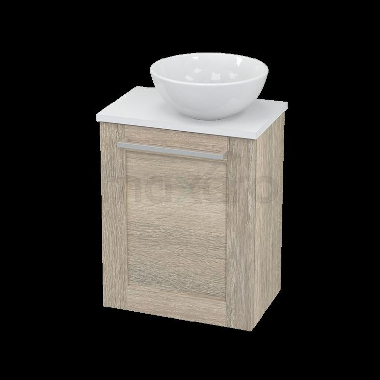 Toiletmeubel met Waskom Keramiek Modulo+ Pico Eiken 41cm