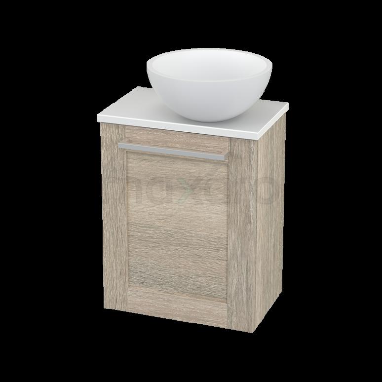 Toiletmeubel met Waskom Solid Surface Mat Modulo+ Pico Eiken 41cm