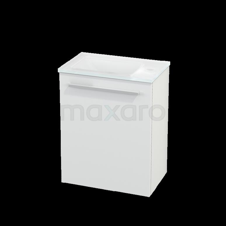 Toiletmeubel met Wastafel Glas Modulo+ Pico Mat Wit 40cm
