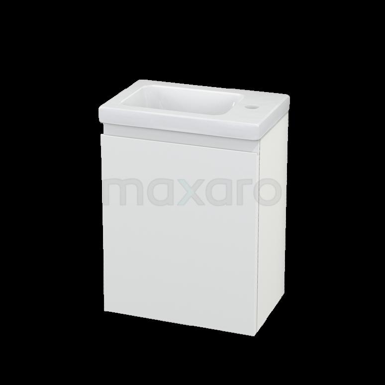 Toiletmeubel met Wastafel Keramiek Modulo+ Pico Mat Wit 40cm