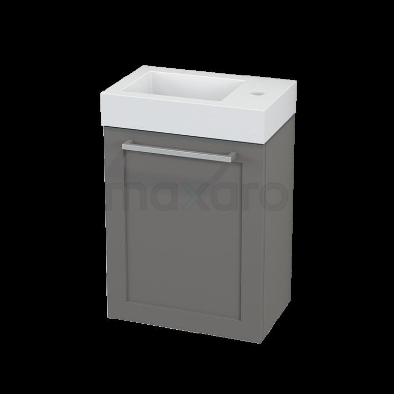 Toiletmeubel met Wastafel Mineraalmarmer Modulo+ Pico Basalt 40cm
