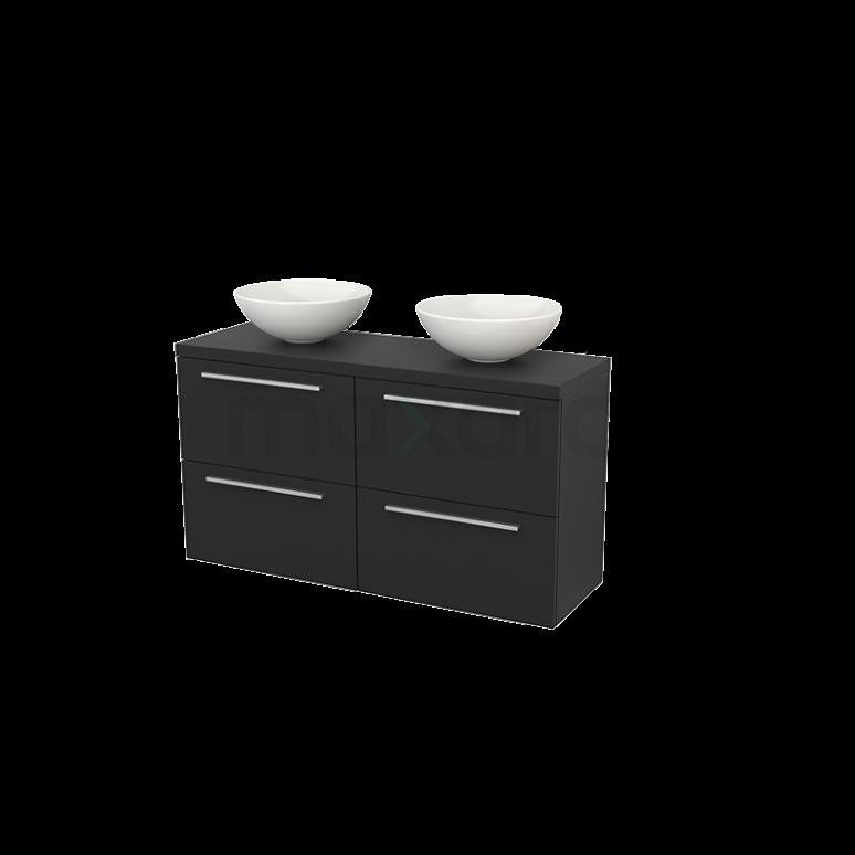 Maxaro Modulo+ Plato Slim BMD000182 Badkamermeubel voor Waskom 120cm Modulo+ Plato Slim Carbon 4 Lades Vlak