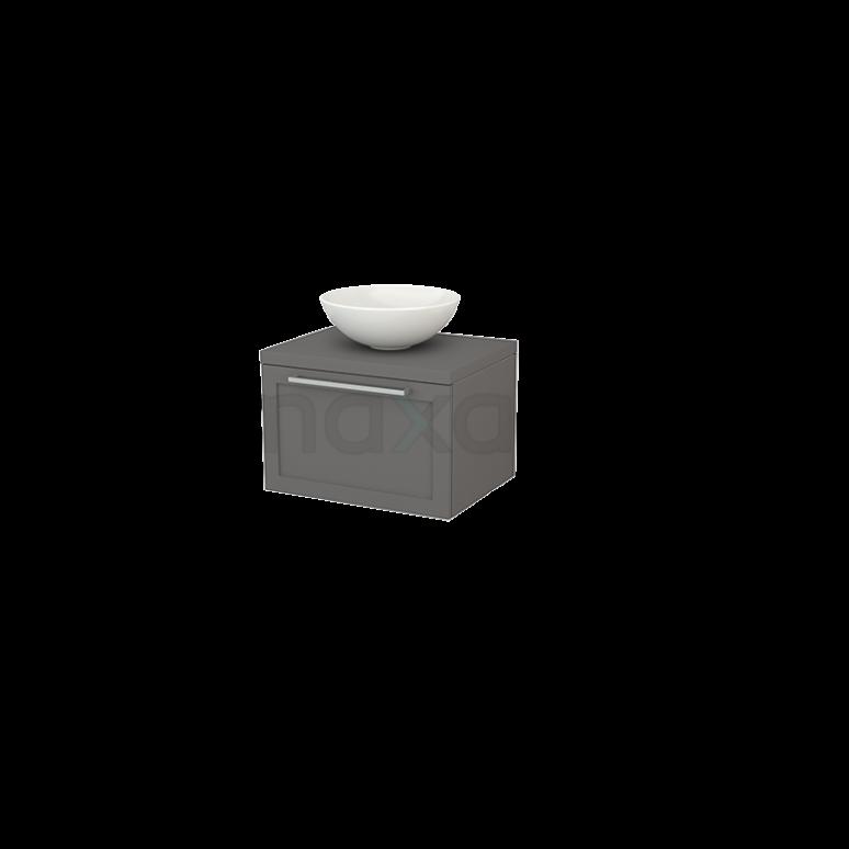 Badkamermeubel voor Waskom 60cm Modulo+ Plato Basalt 1 Lade Kader