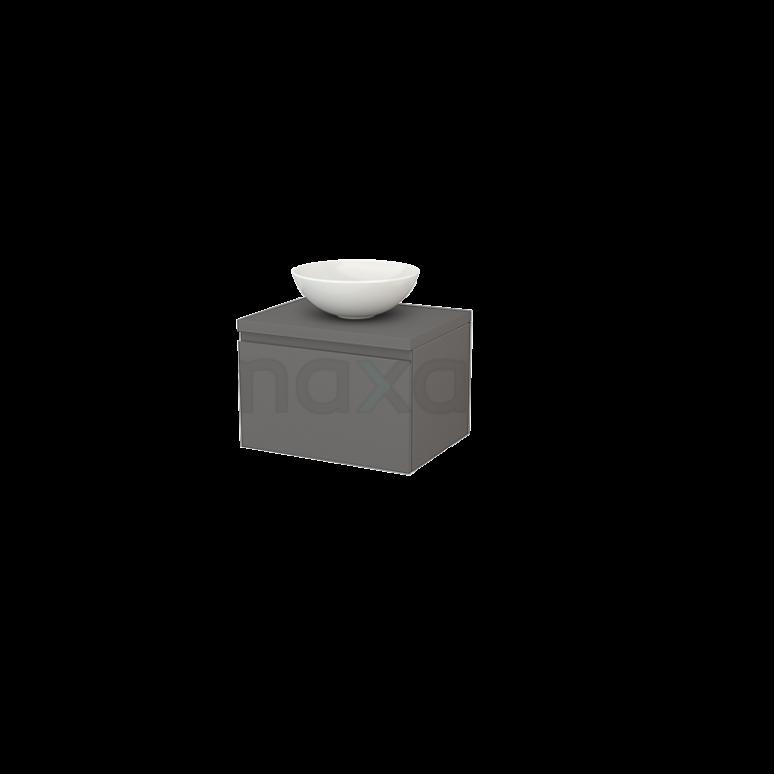 Badkamermeubel voor Waskom 60cm Modulo+ Plato Basalt 1 Lade Greeploos