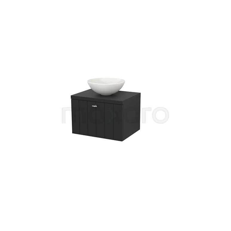 Maxaro Modulo+ Plato BMK001065 Badkamermeubel voor Waskom 60cm Modulo+ Plato Carbon 1 Lade Lamel