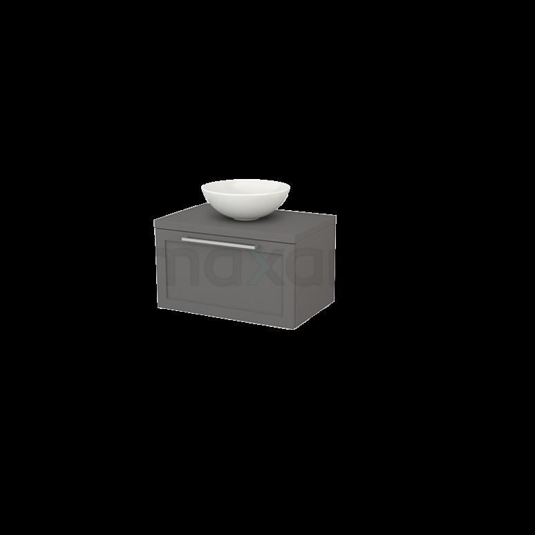 Badkamermeubel voor Waskom 70cm Modulo+ Plato Basalt 1 Lade Kader