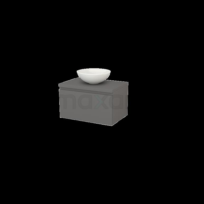Badkamermeubel voor Waskom 70cm Modulo+ Plato Basalt 1 Lade Greeploos