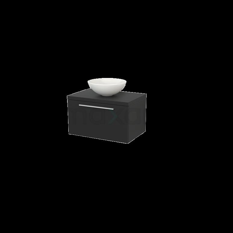 Maxaro Modulo+ Plato BMK001152 Badkamermeubel voor Waskom 70cm Modulo+ Plato Carbon 1 Lade Vlak