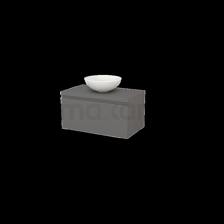 Maxaro Modulo+ Plato BMK001239 Badkamermeubel voor Waskom 80cm Modulo+ Plato Basalt 1 Lade Greeploos