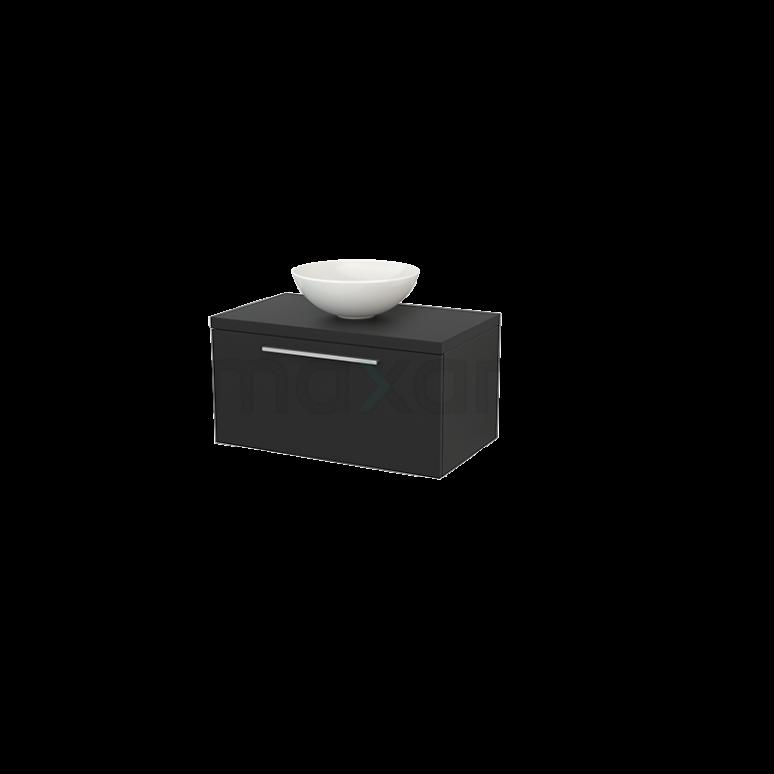 Badkamermeubel voor Waskom 80cm Modulo+ Plato Carbon 1 Lade Vlak