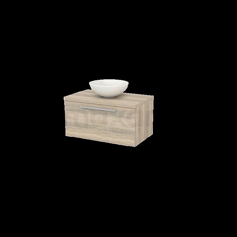 Badkamermeubel voor Waskom 80cm Modulo+ Plato Eiken 1 Lade Vlak