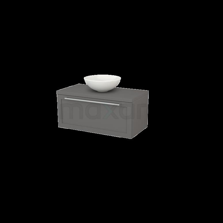 Badkamermeubel voor Waskom 90cm Modulo+ Plato Basalt 1 Lade Kader