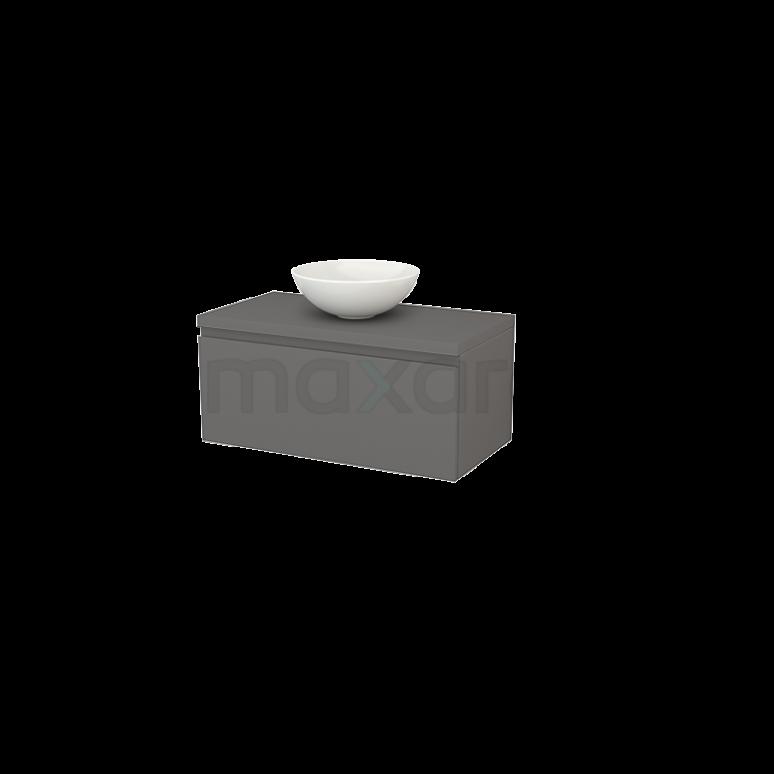 Badkamermeubel voor Waskom 90cm Modulo+ Plato Basalt 1 Lade Greeploos