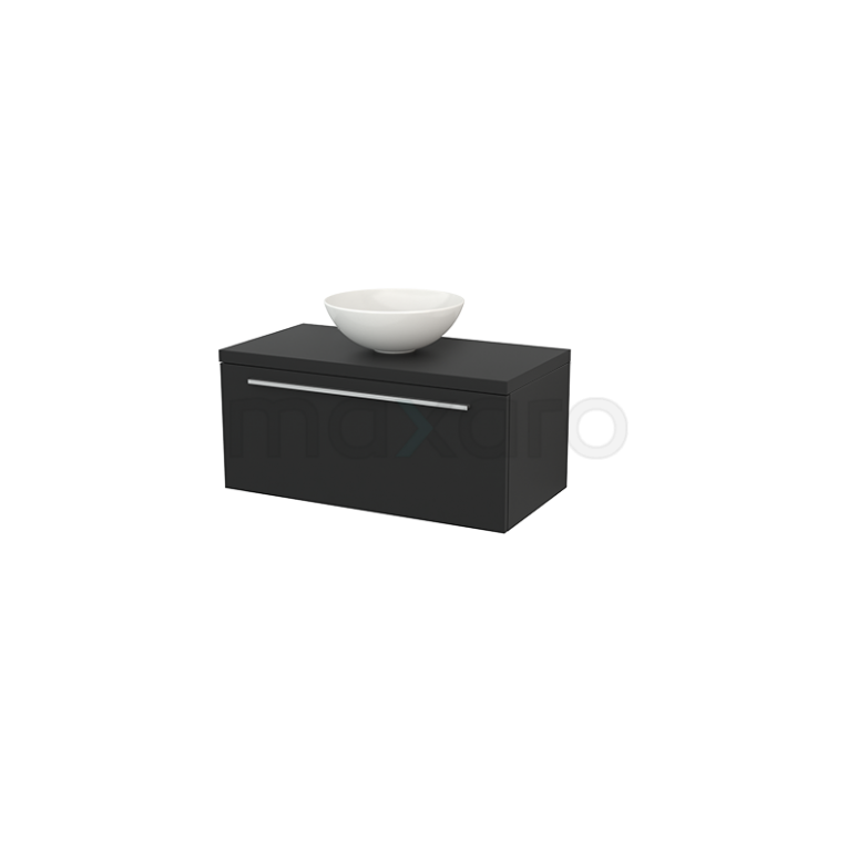 Maxaro Modulo+ Plato BMK001332 Badkamermeubel voor Waskom 90cm Modulo+ Plato Carbon 1 Lade Vlak