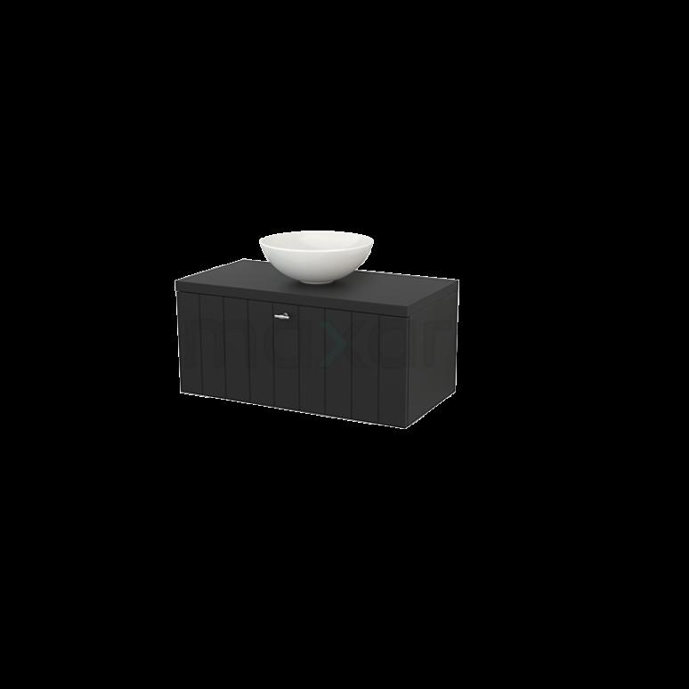 Maxaro Modulo+ Plato BMK001335 Badkamermeubel voor Waskom 90cm Modulo+ Plato Carbon 1 Lade Lamel