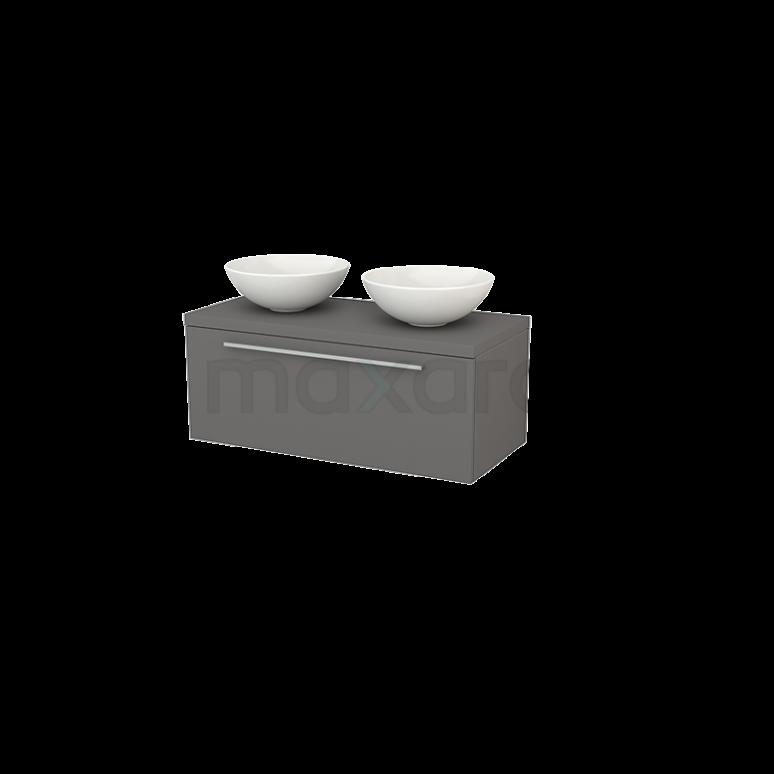 Badkamermeubel voor Waskom 100cm Modulo+ Plato Basalt 1 Lade Vlak