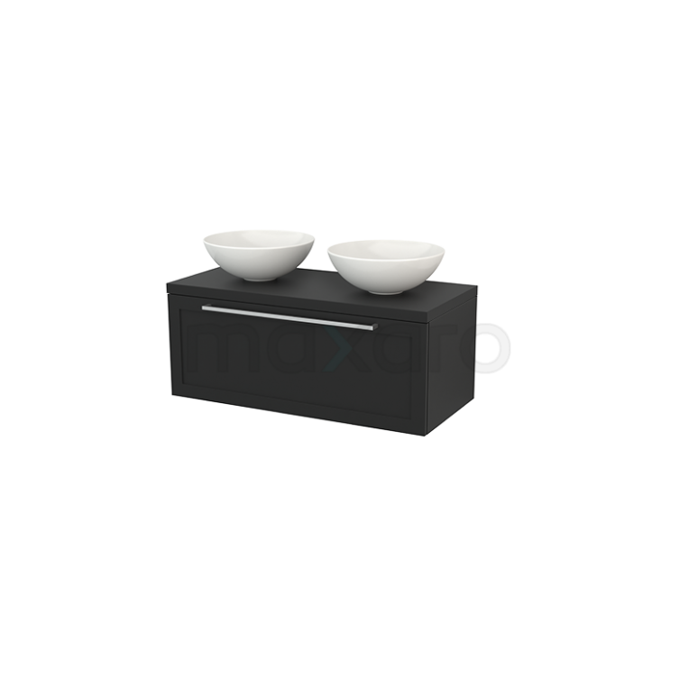 Maxaro Modulo+ Plato BMK001428 Badkamermeubel voor Waskom 100cm Modulo+ Plato Carbon 1 Lade Kader