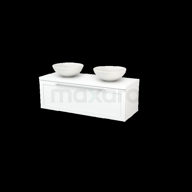 Maxaro Modulo+ Plato BMK001486 Badkamermeubel voor Waskom 120cm Modulo+ Plato Mat Wit 1 Lade Kader