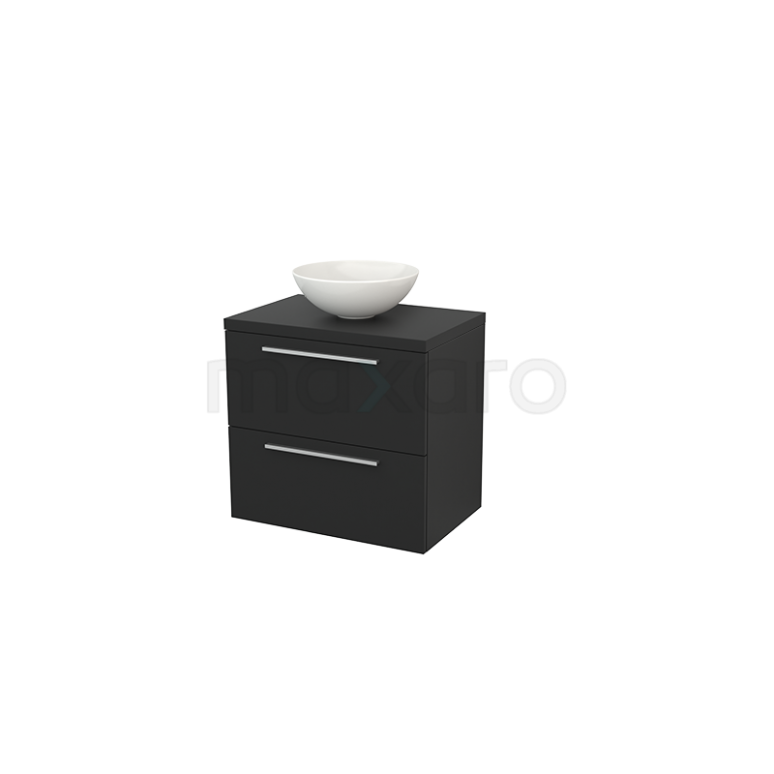 Maxaro Modulo+ Plato BMK001692 Badkamermeubel voor Waskom 70cm Modulo+ Plato Carbon 2 Lades Vlak
