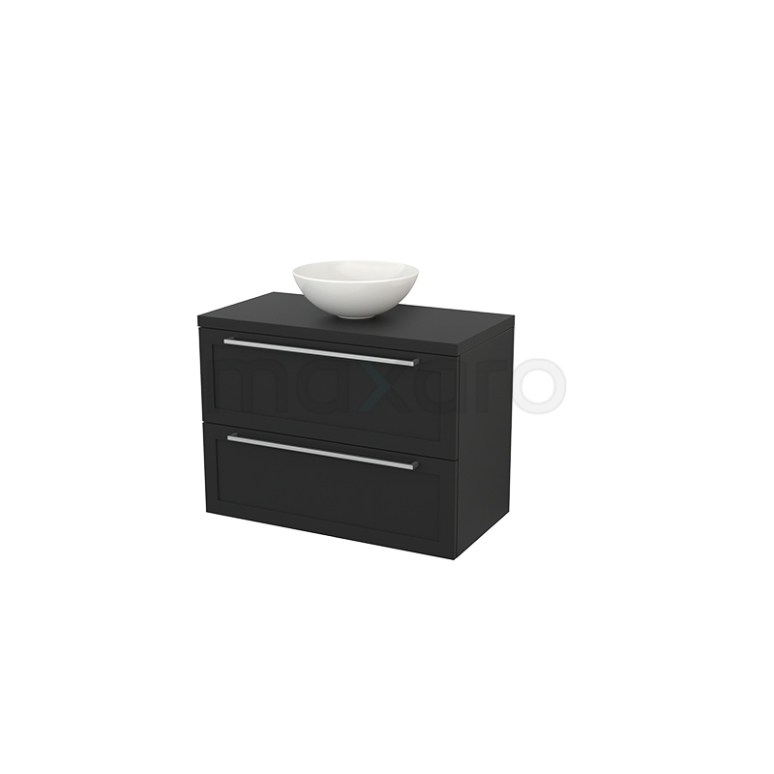 Maxaro Modulo+ Plato BMK001878 Badkamermeubel voor Waskom 90cm Modulo+ Plato Carbon 2 Lades Kader