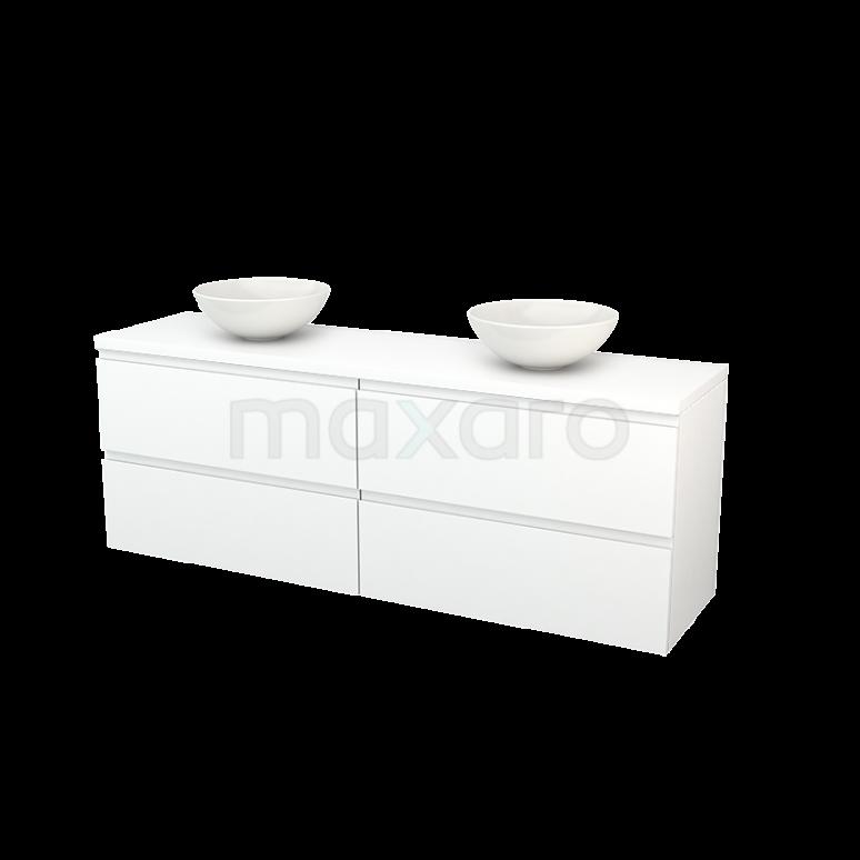 Maxaro Modulo+ Plato BMK002842 Badkamermeubel voor Waskom 180cm Modulo+ Plato Mat Wit 4 Lades Greeploos