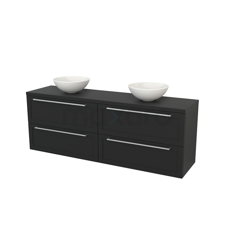 Maxaro Modulo+ Plato BMK002868 Badkamermeubel voor Waskom 180cm Modulo+ Plato Carbon 4 Lades Kader