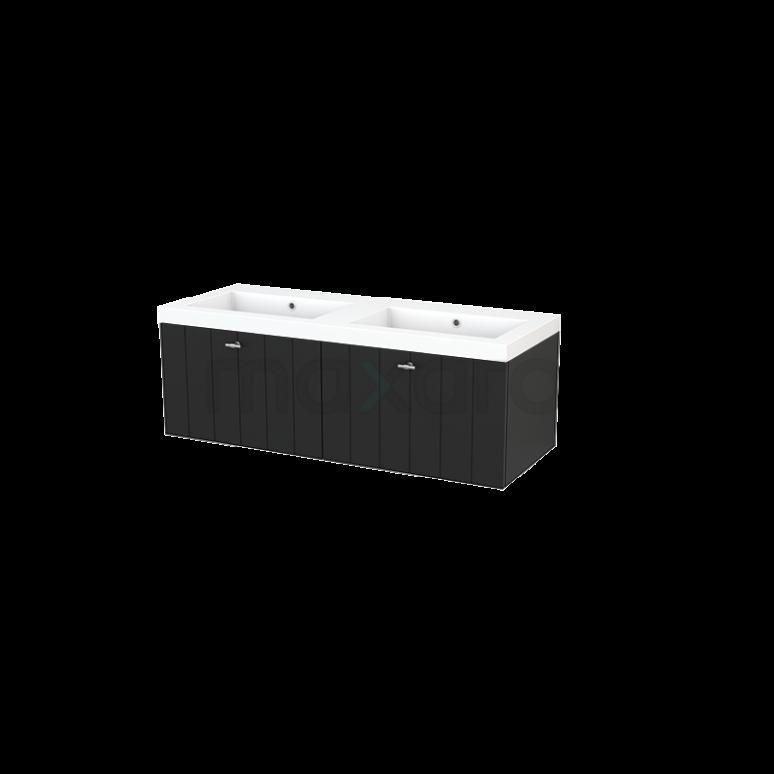 Maxaro Modulo+ BMP003702 Badkamermeubel 120cm Modulo+ Carbon 2 Lades Lamel Mineraalmarmer