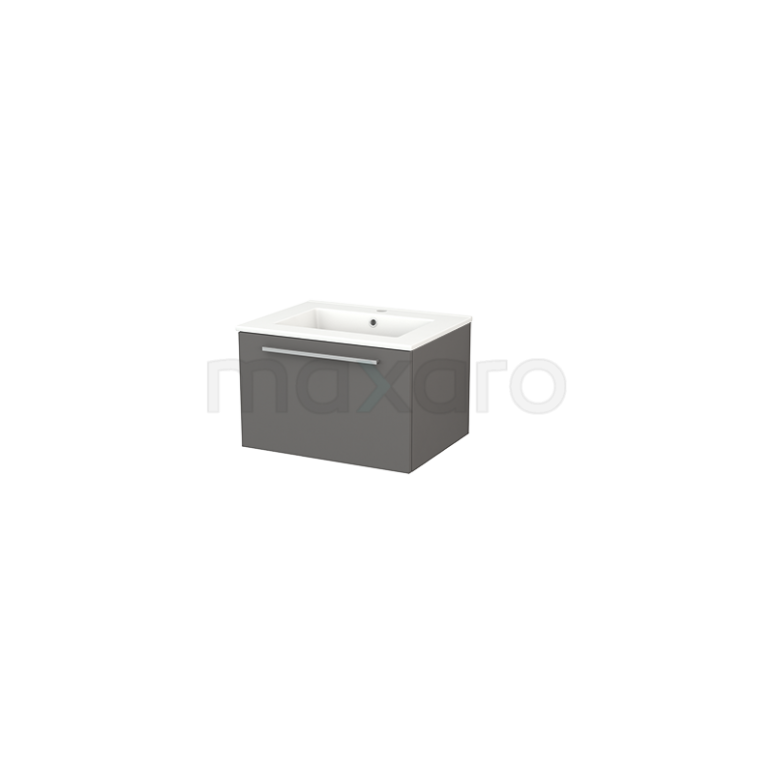 Maxaro Modulo+ BMP001072 Badkamermeubel 60cm Modulo+ Basalt 1 Lade Greeploos Keramiek