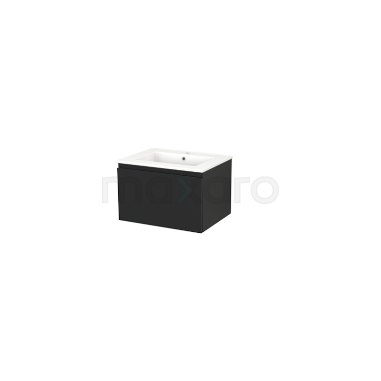 Maxaro Modulo+ BMP001153 Badkamermeubel 60cm Modulo+ Carbon 1 Lade Greeploos Keramiek