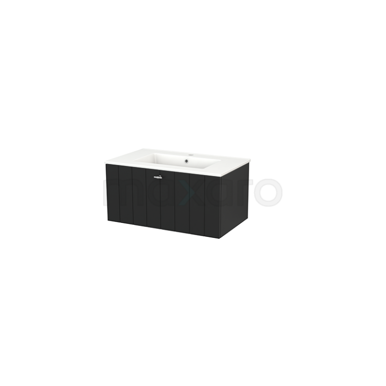 Maxaro Modulo+ BMP001511 Badkamermeubel 80cm Modulo+ Carbon 1 Lade Greeploos Keramiek