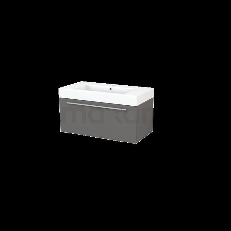 Maxaro Modulo+ BMP001661 Badkamermeubel 90cm Modulo+ Basalt 1 Lade Vlak Mineraalmarmer