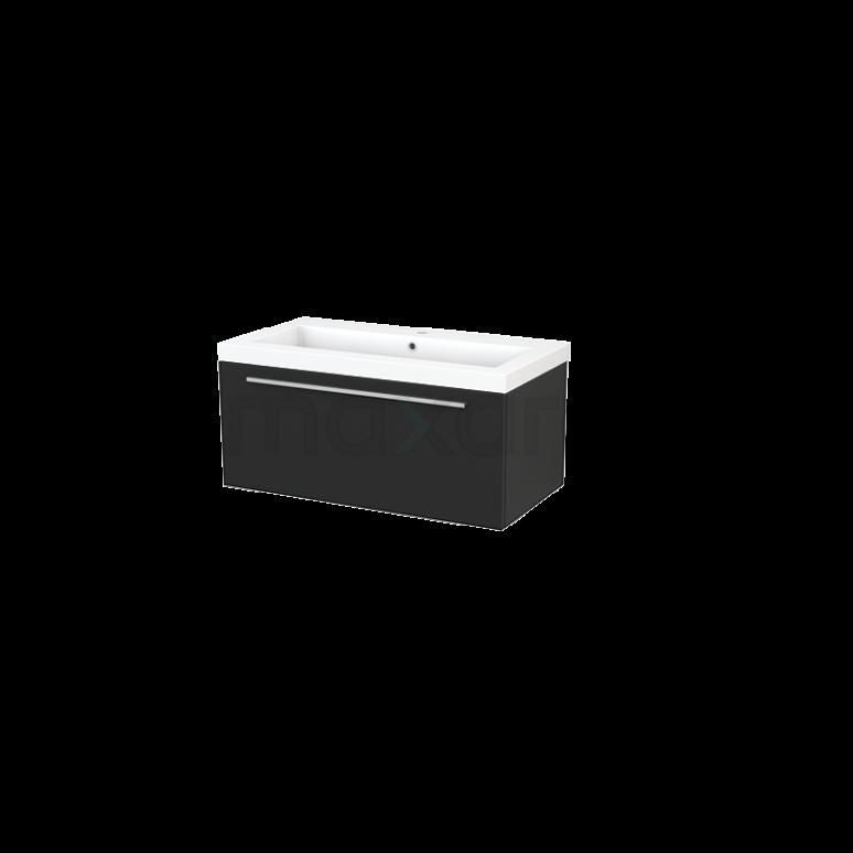 Maxaro Modulo+ BMP001695 Badkamermeubel 90cm Modulo+ Carbon 1 Lade Vlak Mineraalmarmer
