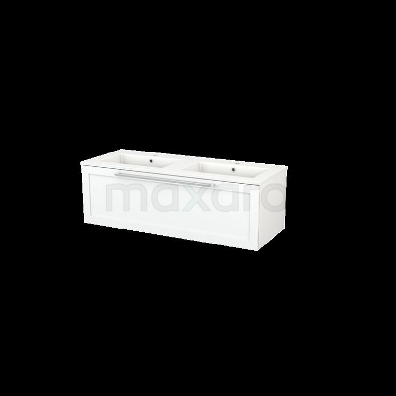 Maxaro Modulo+ BMP002101 Badkamermeubel 120cm Modulo+ Mat Wit 1 Lade Kader Keramiek